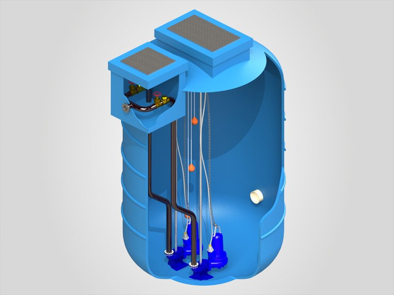 EnviroLift Fibreglass Pump Station